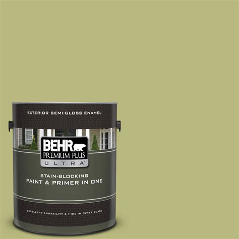 behr premium plus ultra 1 gal 400d 5 grass cloth gloss enamel exterior paint and primer