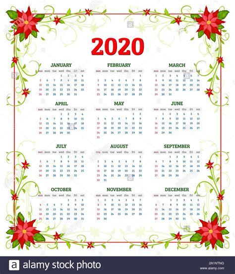 vector calendar  year  flowers  poinsettia week