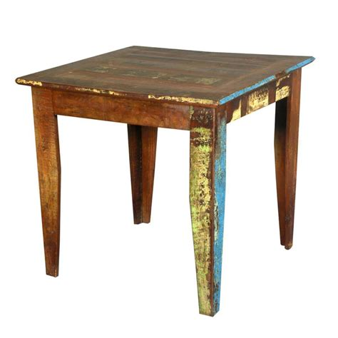 cariboo  square reclaimed wood kitchen dinette table