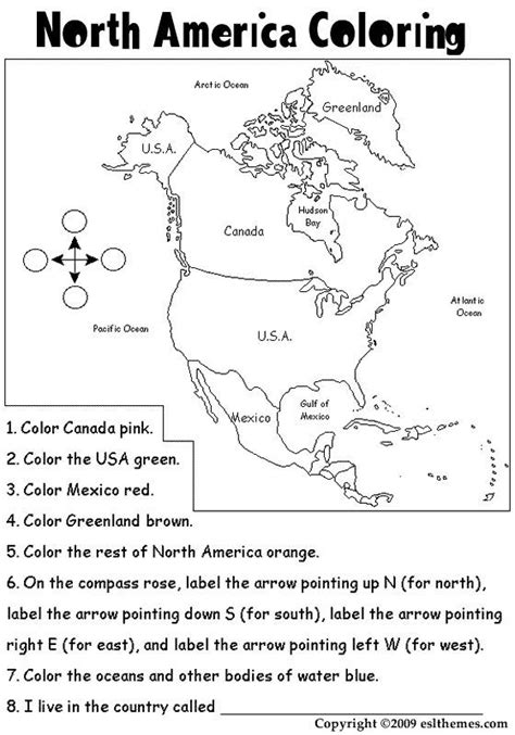 Printable Picture Of North America  North America Colouring Pages  Homeschool Geography