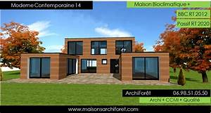 Plan maison contemporaine gratuit toit plat for Lovely maison bois toit plat 12 maison contemporaine avec patio