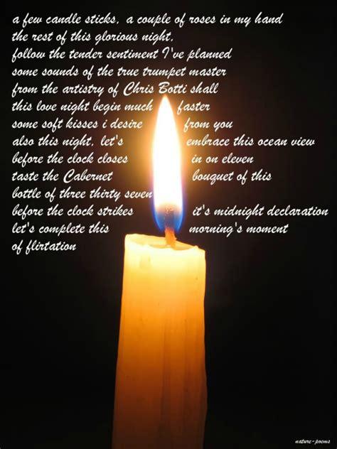 Gedicht Kerze Licht by Candlelight Vigil Poems