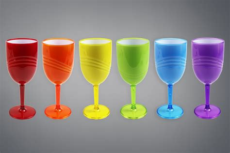 Plastic Barware by Wine Goblets Pack Of 6 High Quality Glasses