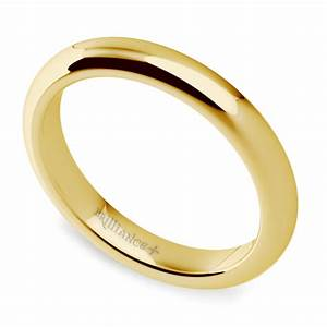 comfort fit wedding ring in yellow gold 3mm With comfort fit wedding rings