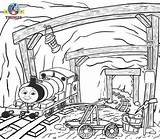 Coal Mine Coloring Pages Mining Underground Miner Template Sketch sketch template