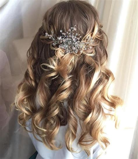 78 half up half down wedding hairstyles hair beauty