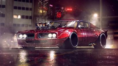 Dodge 4k Charger Artwork Muscle Wallpapers Cars