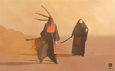 Artwork Masked Travelers Thatgamecompany