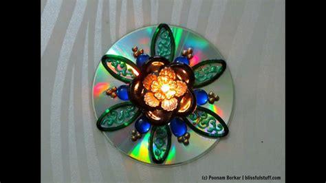 diy recycle   cd  broken bangles