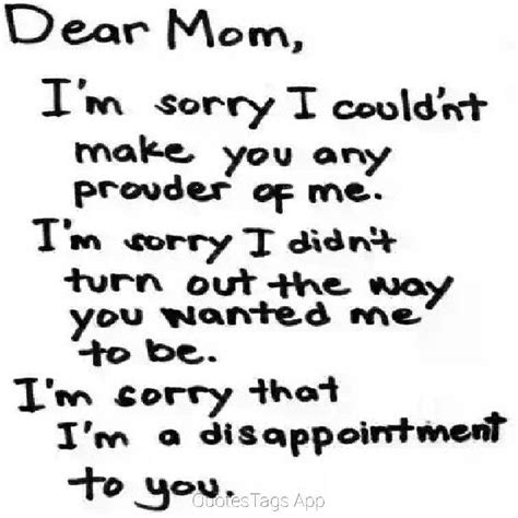 I Am Sorry To Disappoint You Quotes