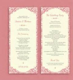 18 wedding program templates free psd ai eps format