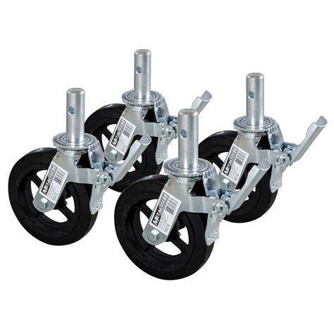 MetalTech 8 in. Scaffold Caster Wheel (4 Pack) M MBC8K4