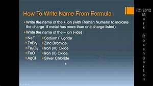 Chem Tutorial  Formula Writing And Naming
