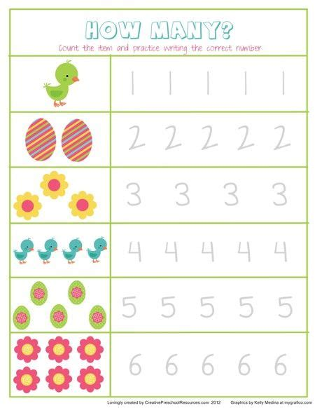 preschool easter math would to use a