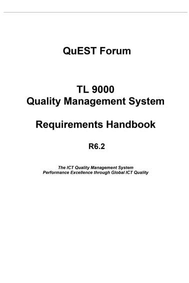 TL 9000 Quality Management System Requirements Handbook R6