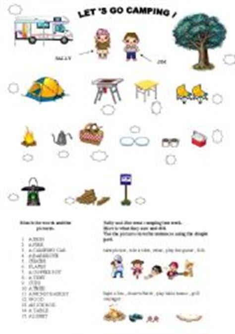 lets  camping esl worksheet  storyteller