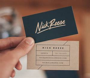 30 beautiful examples of modern business card designs for for Example of a business card