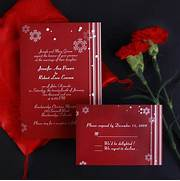 Cheap Snowflake Red Wedding Invites EWI005 As Low As How Much Do Wedding Invitations Cost Winter Wedding Invitations Cheap Invites At Wedding Invitations Cheap Gold Wedding By LemonWedding On Etsy