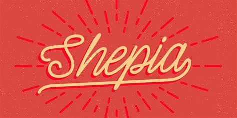 fontspring shepia script font  seniors studio