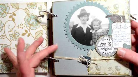 mini album selber basteln scrapbook mini album vintage foto album selbst gemacht basteln mit papier