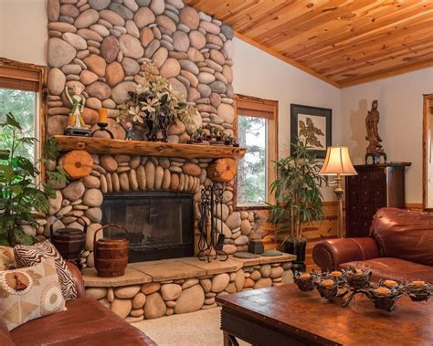 Elegant Rustic Living Rooms With Fireplace