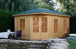 Haus Bausatz Holz : 5 eck gartenhaus 453x299cm holzhaus bausatz doppelt r mit fenstern vom garten fachh ndler ~ Whattoseeinmadrid.com Haus und Dekorationen