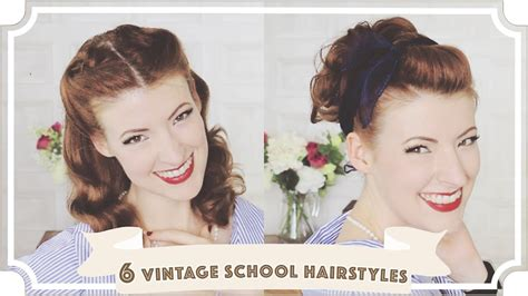 Easy 1950s Hairstyles by 6 Easy Vintage 1950s Back To School Hairstyles Cc