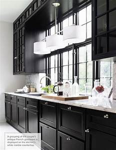 one color fits most black kitchen cabinets With kitchen cabinets lowes with large black and white wall art