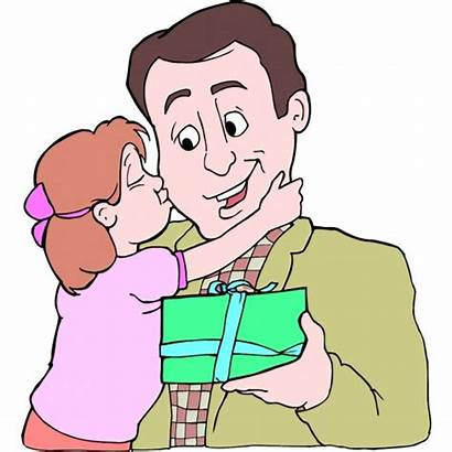 Daughter Cartoon Dad Clipart Father Gift Morning