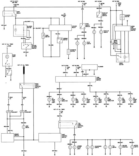 wiring flasher turn signal location 1980 toyota diagram pickup hilux light pick diagrams switch truck lights circuit hazard starter forums