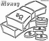 Money Coloring Pages Coin Colorings Bill Printable Coins Getcolorings Getdrawings sketch template