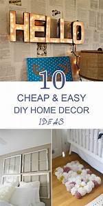 10, Cheap, And, Easy, Diy, Home, Decor, Ideas