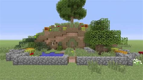 maison de hobbit minecraft 3h de construction