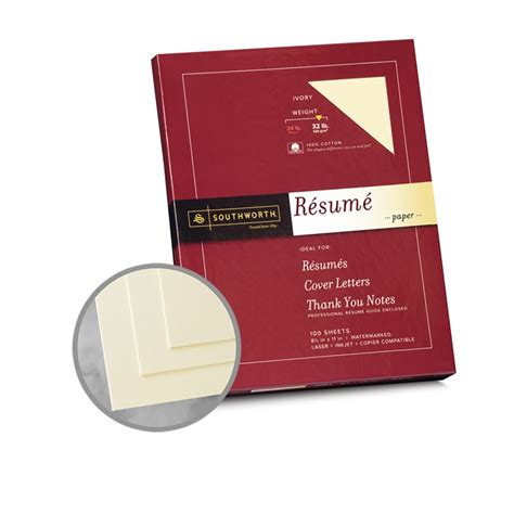 Southworth Resume Paper 32 Lb ivory paper 8 1 2 x 11 in 32 lb bond wove 100 cotton southworth resume 100 cotton paper 3