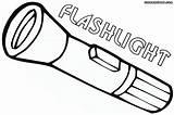 Coloring Flashlights Flashlight sketch template