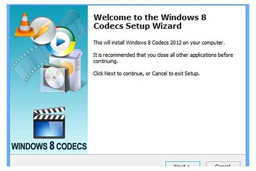 dvd codec download windows 8