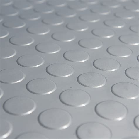 """Coin Grip (Metallic)"" Rolled PVC Flooring"