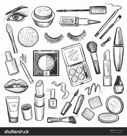 Makeup Mascara Drawings Eye Lipstick Beauty Nail