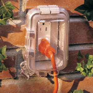 outdoor light with electrical outlet plug handyhomeowner