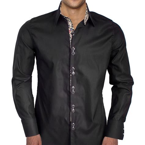 mens designer dress shirts black with writing dress shirts
