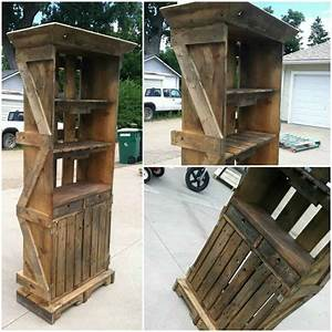 pallet hutch o 1001 pallets With what kind of paint to use on kitchen cabinets for restaurant table candle holders