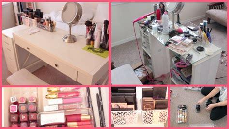 makeup collection vanity organization