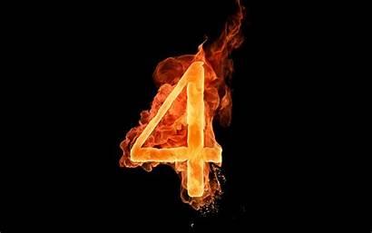 Numbers Fiery Letters Flame Wallpapers Letter Desktop