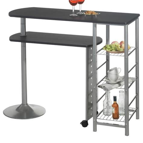 table de cuisine bar haute table haute de bar josua mdf décor noir achat vente meuble bar table haute de bar josua md