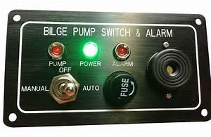 Marine Boat Bilge Alarm Pump Switch Aluminum Plate Manual