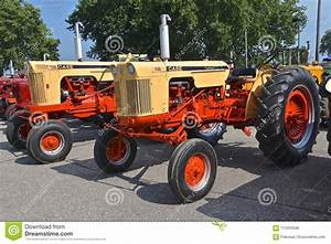 Restored Old Case 630 And 730 Tractors Editorial Photo