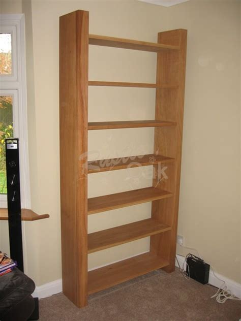 Tall Oak Bookcase  Open Backed  Rustic Oak Furniture