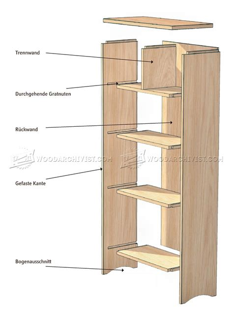 bookshelf plans woodarchivist