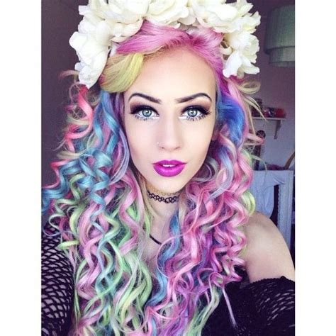 pink blue  green hair   hair color pictures