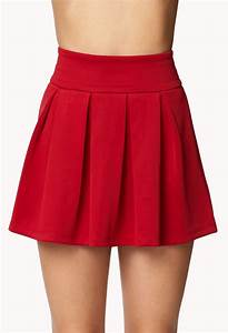 forever 21 box pleated skirt in lyst